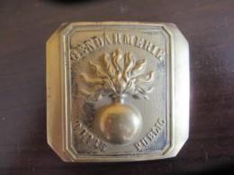 France - Plaque Boucle De Ceinturon Gendarmerie Ordre Publique Modèle 1872 - TBE - 72 X 66 Mm / 94 Grammes - Police & Gendarmerie