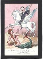 CPA Bobb Satirique Caricature Non Circulé Dessin Original Fait Main Sirène Mermaid Aristide Briand Anarchie - Satira