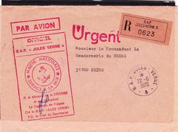 """Envoi Recommandé Par Avion Du 22/6/1978 Du B.A.P. """" Jules Verne """" Pour Reims - Marine Nationale SERVICE A LA MER  RARE - Postmark Collection (Covers)"""