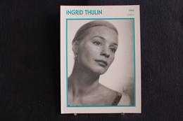 Sp-Actrice,suédoise, 1960 - Ingrid Thulin, Née En 1926 à Sollefteå, Ångermanland - Suède, Morte à Stockholm En 2004. - Acteurs