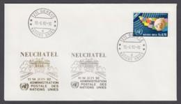 UNO Genf-UN Geneva - Beleg 1992 - MiNr. 78 - Gold-Sonderstempel - Neuchatel - UNO