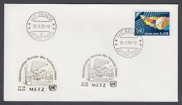 UNO Genf-UN Geneva - Beleg 1992 - MiNr. 78 - Gold-Sonderstempel - Metz - UNO