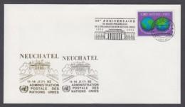 UNO Genf-UN Geneva - Beleg 1992 - MiNr. 80 - Gold-Sonderstempel - Neuchatel - UNO