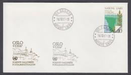 UNO Genf-UN Geneva - Beleg 1987 - MiNr. 85 - Gold-Sonderstempel - Oslo - UNO