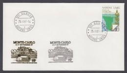 UNO Genf-UN Geneva - Beleg 1987 - MiNr. 85 - Gold-Sonderstempel - Monte-Carlo - UNO