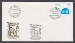 UNO Genf-UN Geneva - Beleg 1987 - MiNr. 91 - Gold-Sonderstempel - Milano 87 - UNO