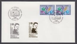UNO Genf-UN Geneva - Beleg 1985 - 2 X MiNr. 94 - Gold-Sonderstempel - Frimärkets Dag, Jönköping - UNO