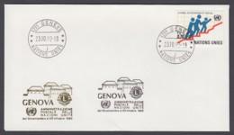 UNO Genf-UN Geneva - Beleg 1992 - MiNr. 95 - Gold-Sonderstempel - Genova - UNO