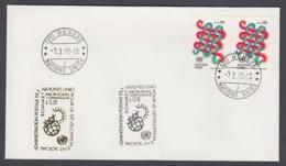 UNO Genf-UN Geneva - Beleg 1995 - 2 X MiNr. 103 - Gold-Sonderstempel - Sommet Monial, Copenhague - UNO