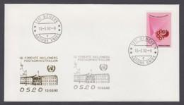 UNO Genf-UN Geneva - Beleg 1992 - MiNr. 109 - Gold-Sonderstempel - Oslo - UNO