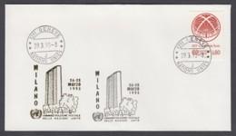 UNO Genf-UN Geneva - Beleg 1993 - MiNr. 127 - Gold-Sonderstempel - Milano - UNO
