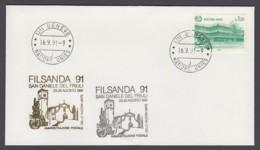 UNO Genf-UN Geneva - Beleg 1991 - MiNr. 128 - Gold-Sonderstempel - Filsanda 91 San Daniele Del Friuli - UNO