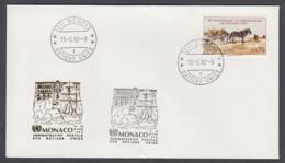 UNO Genf-UN Geneva - Beleg 1992 - MiNr. 134 A - Gold-Sonderstempel - Monaco - UNO
