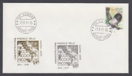 UNO Genf-UN Geneva - Beleg 1991 - MiNr. 136 - Gold-Sonderstempel - Riccione 91 - UNO