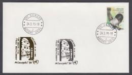 UNO Genf-UN Geneva - Beleg 1995 - MiNr. 136 - Gold-Sonderstempel - Milanophil 95, Milano - UNO