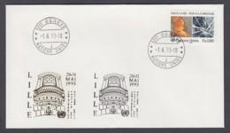 UNO Genf-UN Geneva - Beleg 1993 - MiNr. 156 - Gold-Sonderstempel - Lille - UNO