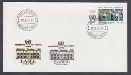 UNO Genf-UN Geneva - Beleg 1995 - MiNr. 157 - Gold-Sonderstempel - Basel - UNO