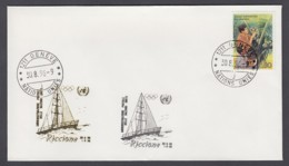 UNO Genf-UN Geneva - Beleg 1996 - MiNr. 167 - Gold-Sonderstempel - Riccione 96 - UNO