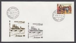 UNO Genf-UN Geneva - Beleg 1995 - MiNr. 168 - Gold-Sonderstempel - Orleans 95 - UNO