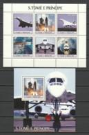 Sao Tome E Principe 2003 Kleinbogen Mi 2206-2211 + Block  453 MNH CONCORDE - SPACE EXPLORATION - Concorde