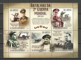 Sao Tome E Principe 2010 Kleinbogen Mi 4587-4591 MNH WORLD WAR 2 BATTLES - Seconda Guerra Mondiale