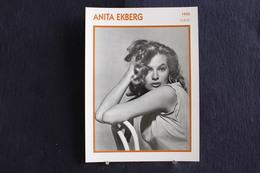 Sp-Actrice,italienne D'origine Suédoise,1955 -  Anita Ekberg, Née En 1931 En Suède,morte En 2015 à Rocca Di Papa,Italie. - Acteurs