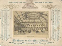 """1859 Souvenir De La Bourse D' ANVERS """"Les Garçons Du Café Suisse à Anvers"""" (pts Dfts) - Calendriers"""
