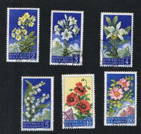 SAN MARINO CAT.UNIF.  458.467 - 1957  FIORI    -  USATI (°) - San Marino