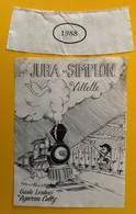 11446  -  Jura-Simplon Villette 1988 Guido Lombardi Cully Suisse - Treni