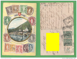 Svizzera Ponte Tresa EIDG Post Cp 1910 Helvetia Suisse Switzerland - Francobolli (rappresentazioni)