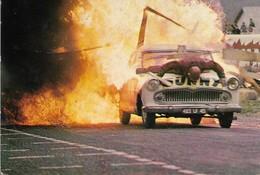 CPSM. CASCADES AUTOMOBILES. MUR DE FLAMMES. EQUIPE JEAN SUNNY. ORLEANS. 1968. - Otros