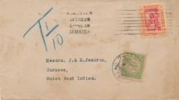 Curacao - 1925 - 20 Cent Port P26, Enkelfrankering Op Taxed Businesscover Uit Kingston Jamaica - Curaçao, Antilles Neérlandaises, Aruba