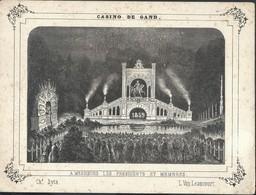 Litho Casino De Gand 1859 Feux D'artifice - Autres