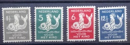 NEDERLAND  1929     Nr. 225 - 228    Waarva Nr. 225 Met Albumrest    Scharnier   CW  25,00 - 1891-1948 (Wilhelmine)