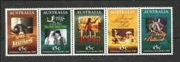 Australie N°1440 à 1444 Cote 4 Euros - 1990-99 Elizabeth II