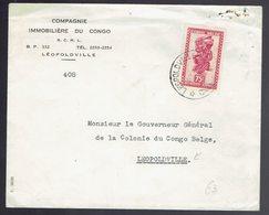N° 284 En Courrier Intérieur De Léopoldville => Léopoldville 14 3 51 Arrivée Le 15 3 51 - 1947-60: Lettres