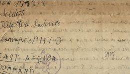 BIGLIETTO CAMPO PRIGIONIERI POW CAMP 51 NAIROBI KENYA 1944 VALLELUNGA PRATAMENO - 1900-44 Vittorio Emanuele III
