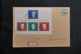 ALLEMAGNE - Enveloppe En Recommandé De Düsseldorf En 1968, Affranchissement Plaisant Dont Bloc - L 39755 - Briefe U. Dokumente