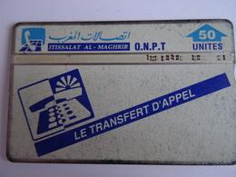 Télécarte MAROC Transfert D'appel / Transfer Of Call 50u ITISSALAT AL MAGRHIB ONPT Used Voir Scan - Maroc