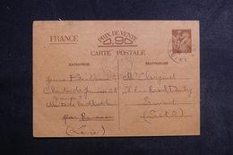 FRANCE - Entier Postal Type Iris Du Chantier De Jeunesse De La Loire Pour Ermont En 1940 - L 39762 - Postal Stamped Stationery
