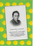 ROSALIE-JUSTINE VAN BAEL- HULSHOUT-ETTERBEEK - Esquela