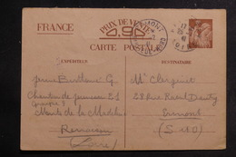 FRANCE - Entier Postal Type Iris Du Chantier De Jeunesse De La Loire Pour Ermont En 1941 - L 39765 - Postal Stamped Stationery