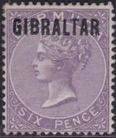 Gibraltar    .   SG     .   6  Signed  (two Scans)     .     *    .       Mint-hinged       .   /    .  Ongebruikt - Gibraltar