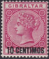 Gibraltar    .   SG     .   16       .     *    .       Mint-hinged       .   /    .  Ongebruikt - Gibraltar