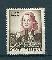 1950 VANNUCCHI IL PERUGINO  20 Lire  NUOVO - 6. 1946-.. Repubblica