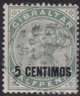 Gibraltar    .   SG     .     15      .       O      .      Cancelled        .   /    .  Gebruikt - Gibraltar