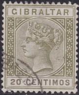 Gibraltar    .   SG     .     24       .       O      .      Cancelled        .   /    .  Gebruikt - Gibraltar