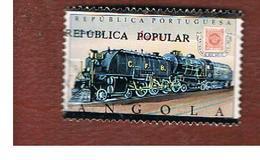 ANGOLA  -  SG 751     - 1980 BEYER-GARRATT LOCOMOTIVE STEAM (OVERPRINTED REPUBLICA POPULAR) -  USED - Angola