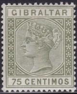 Gibraltar    .   SG     .   29       .     *    .       Mint-hinged       .   /    .  Ongebruikt - Gibraltar