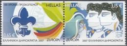 Hellas 2007 Michel 2421C - 2422C Neuf ** Cote (2015) 11.50 Euro Europa CEPT Scoutisme - Grèce